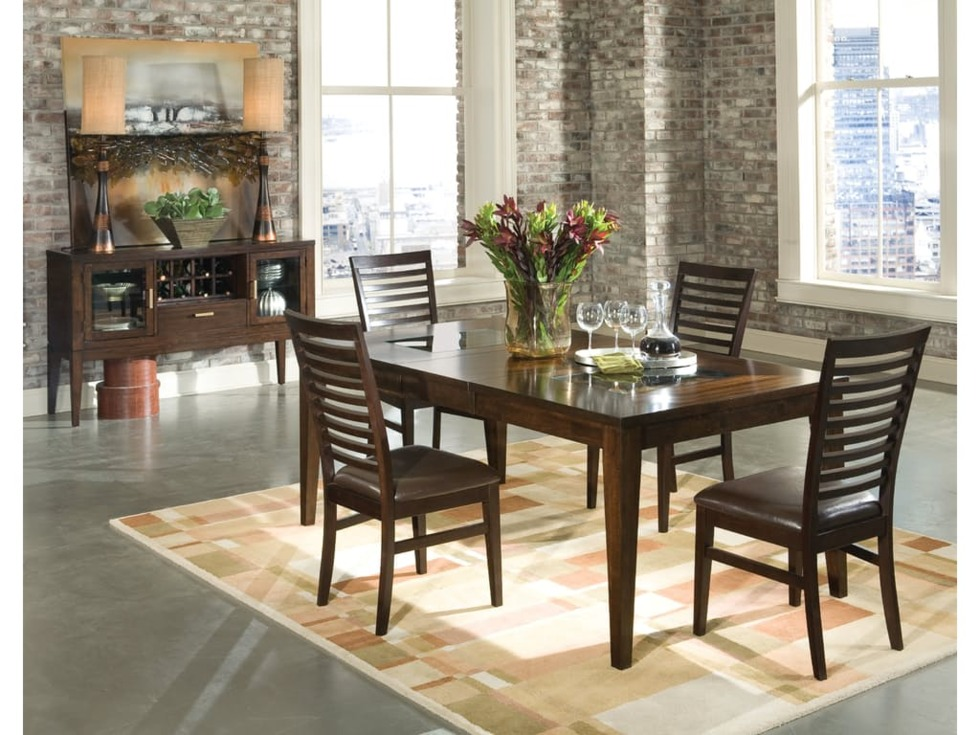 dining room table glass inlay. kashi dining table with glass inlays - intercon room inlay r