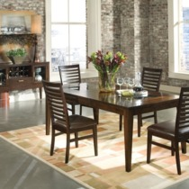 Kashi Dining Table with Glass Inlays - Intercon